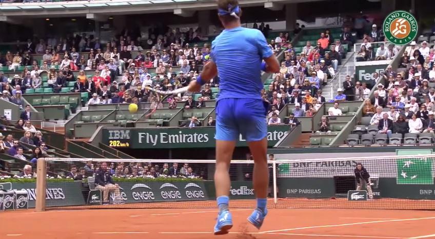 Un coup droit énorme de Rafael Nadal !