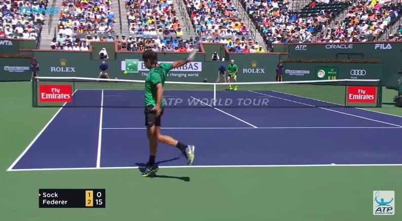 L'angle de vue parfait pour un revers gagnant de Roger Federer (Indian Wells 2017)