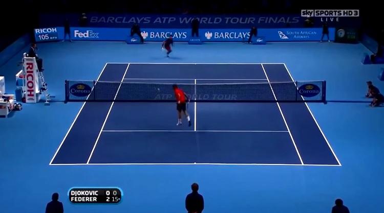 Cette compilation de demi-volées de Roger Federer pue le talent.