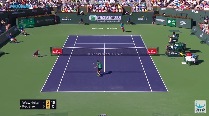 Une volée délicieuse signée Roger Federer (Finale Indian Wells 2017)