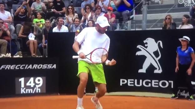 Stéphane Robert s'est fait plaisir contre Novak Djokovic.