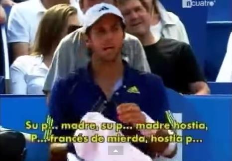 Fernando Verdasco insulte Richard Gasquet et le public en finale du tournoi de Nice 2010.