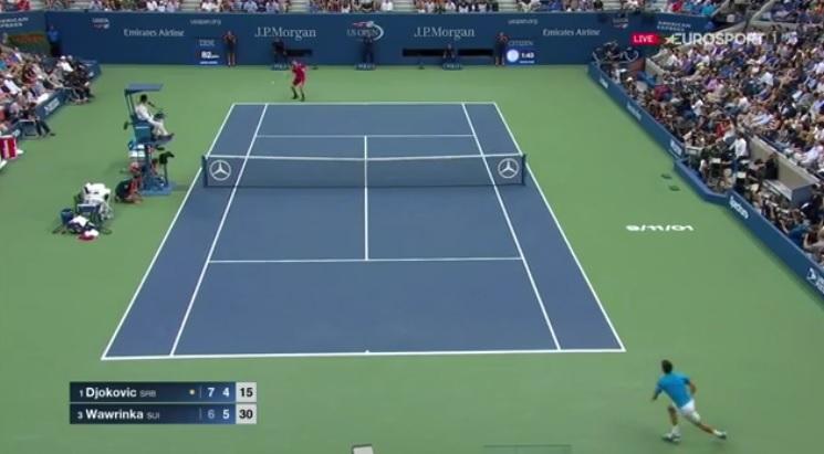 Quel tennis entre Stan Wawrinka et Novak Djokovic !