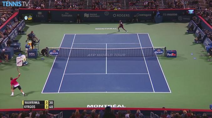 Ce revers de Stan Wawrinka fait partie des nombreux hot shots du deuxième tour du Masters 1000 de Montréal 2015.