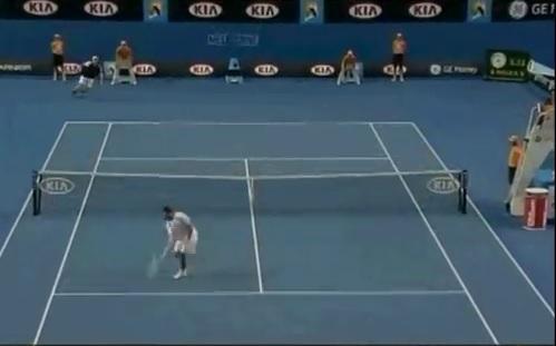 Un petit bijou signé Xavier Malisse à l'Open d'Australie 2009.