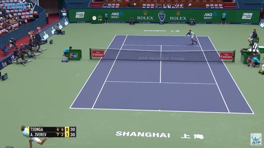 Les contres énormes de Tsonga et Zverev (Shanghai 2016)