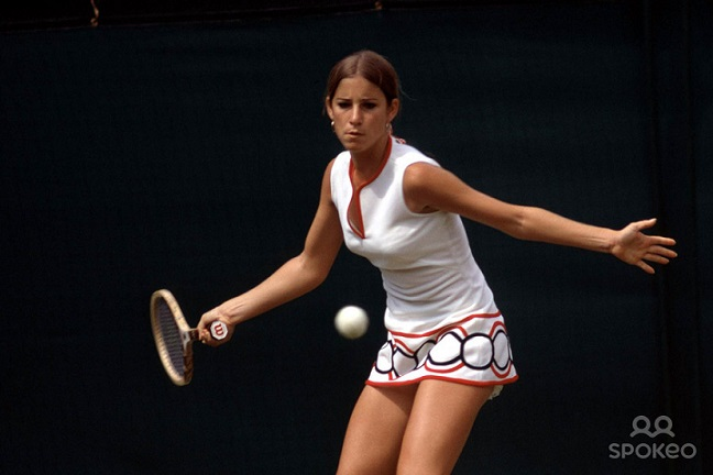 Chris Evert en 1972. (DR)