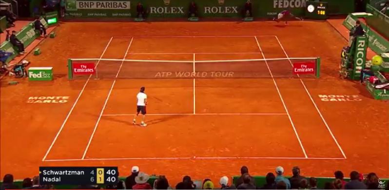 La remise absolument incroyable de Rafael Nadal (Monte-Carlo 2017)