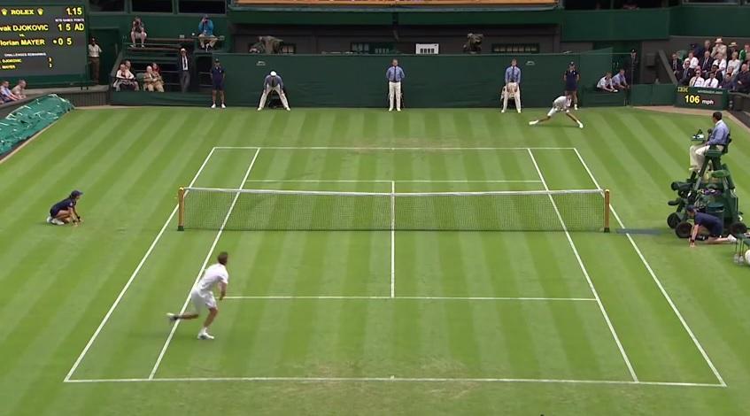 Quel rallye entre Djokovic et Mayer