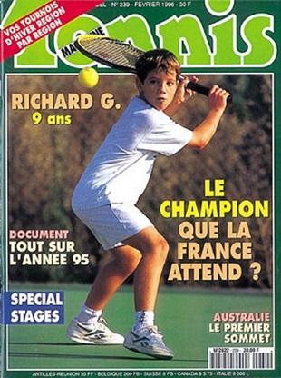 La une de Tennis Magazine sur Richard Gasquet à 9 ans.