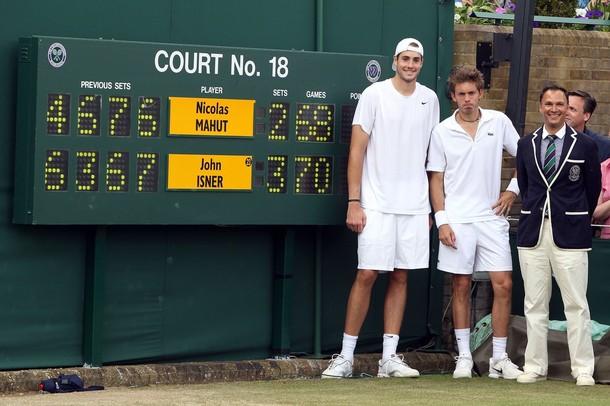 John Isner et Nicolas Mahut ont joué le match de tous les records au 1er tour de Wimbledon