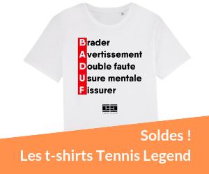 Les t-shirts Tennis Legend en soldes
