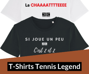 T-shirts Tennis Legend Les expressions.