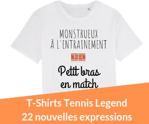 T-shirts Tennis Legend Les nouvelles expressions.