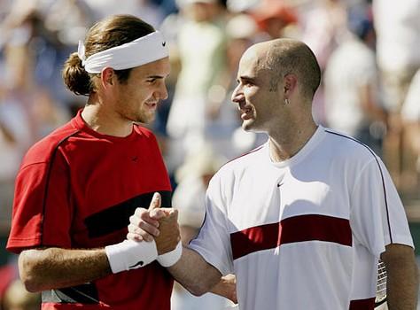 Roger Federer et Andre Agassi