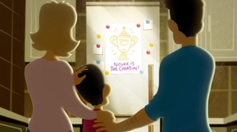 Un film d'animation superbe sur la vie de Novak Djokovic.
