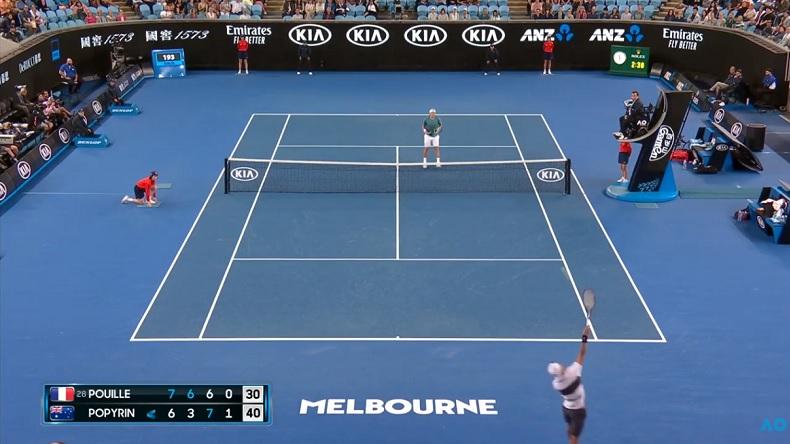 Pour sa première apparition sur Tennis Legend, Alexei Popyrin a fait fort avec le point de l'Open d'Australie 2019.