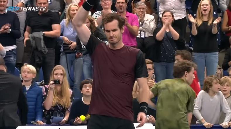 L'émotion d'Andy Murray après son titre au tournoi d'Anvers 2019, neuf mois après sa deuxième opération à la hanche.