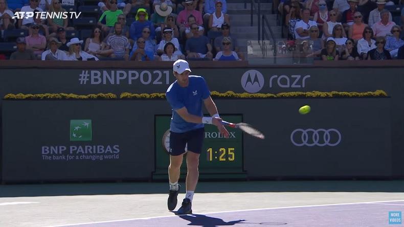L'ace à la cuillère d'Andy Murray contre Carlos Alcaraz à Indian Wells.