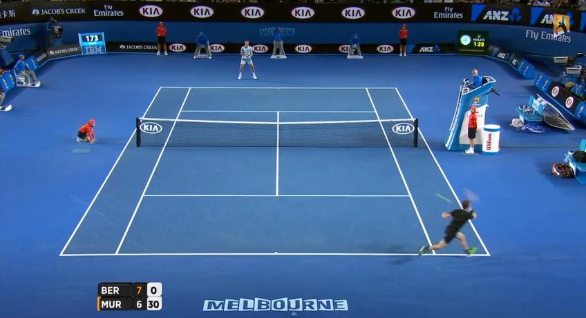 Ce coup droit d'Andy Murray est hallucinant.