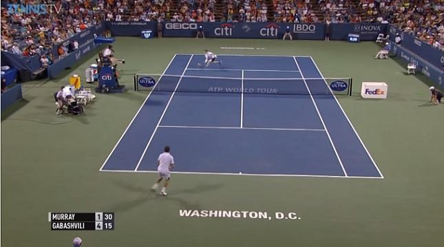 Une volée parfaite d'Andy Murray au tournoi de Washington.