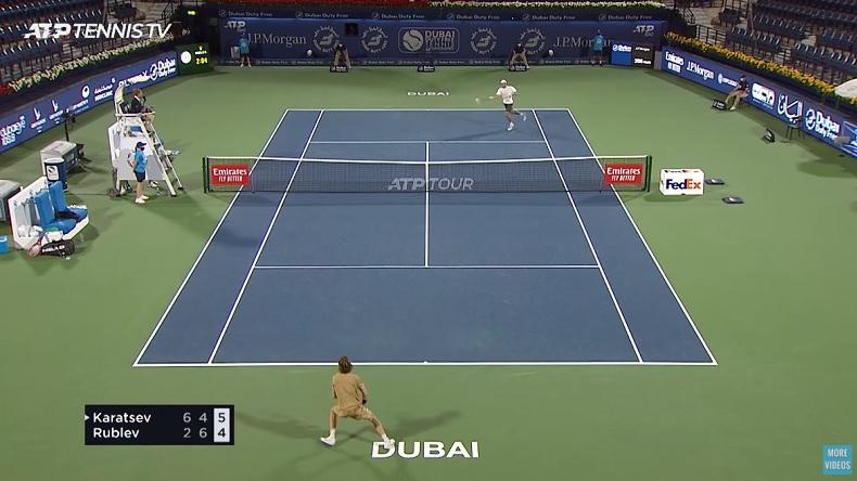 Aslan Karatsev a découpé Rublev en puissance au tournoi de Dubaï.