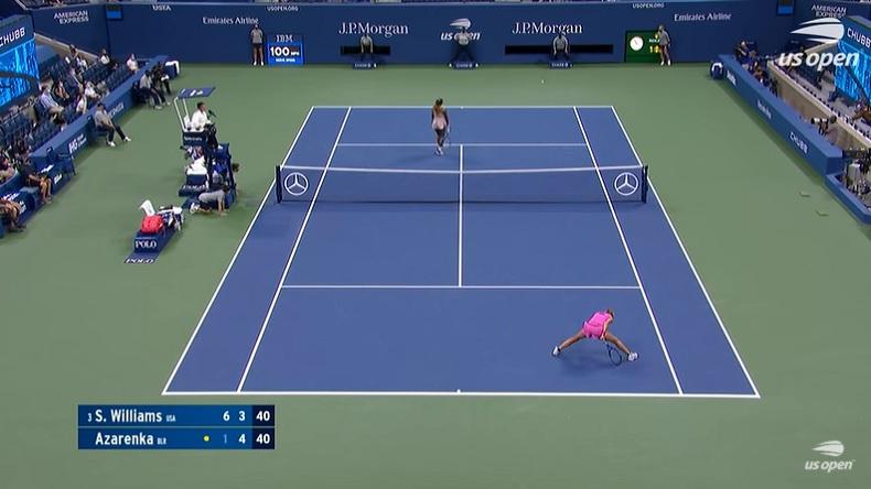 Victoria Azarenka et Serena Williams n'ont pas retenu le bras en demi-finales de l'US Open 2020.
