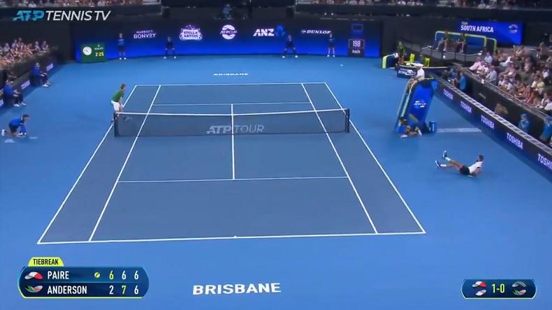 Un point monstrueux de Benoît Paire contre Kevin Anderson à l'ATP Cup.