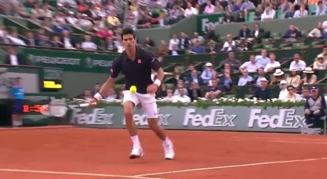 Novak Djokovic a inscrit un des plus beaux points du Jour 10 à Roland Garros.