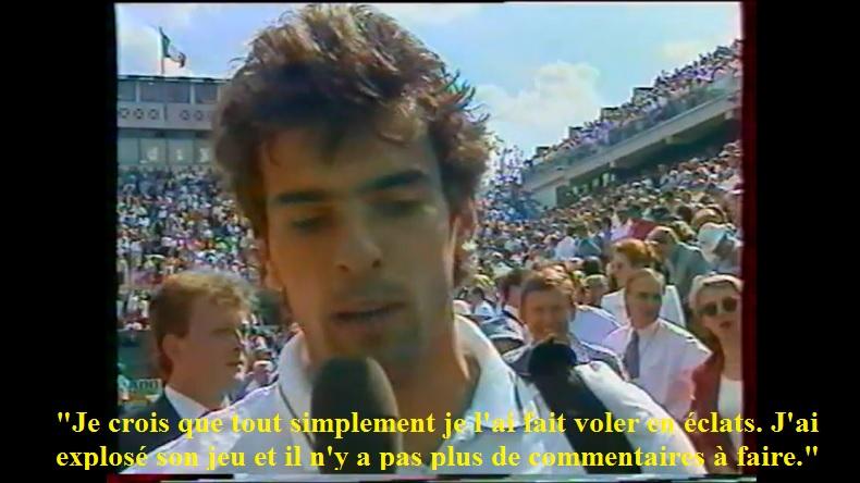Analyse légendaire de Cédric Pioline à la fin de son match contre Marcelo Rios à Roland Garros 1996.