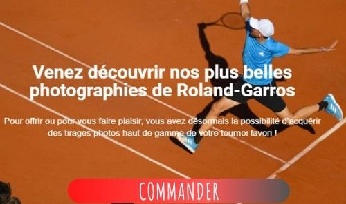 Achetez des photos de Roland-Garros pour la bonne cause.