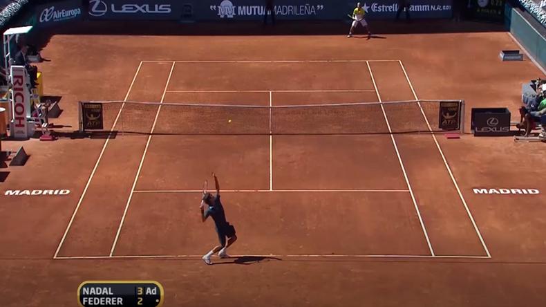 La dernière fois que Federer triomphait de Nadal sur terre battue, ça se passait en finale de Madrid en 2009.