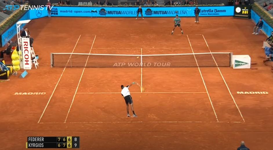 Au deuxième tour du Masters 1000 de Madrid en 2015, Nick Kyrgios avait battu Federer pour leur première rencontre, au terme d'un match énorme.
