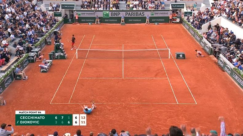 Ce tie-break entre Cecchinato et Djokovic fut un des grands moments de Roland-Garros 2018.