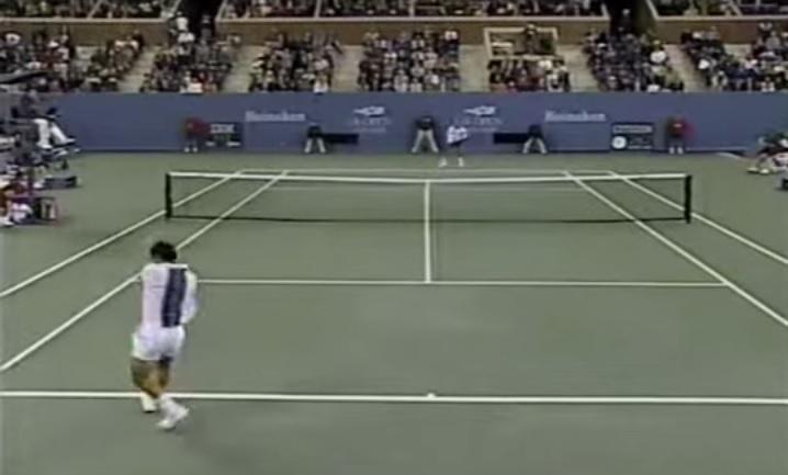 Résumé d'un match épique entre Chang et Rios en demi-finales de l'US Open 1997.