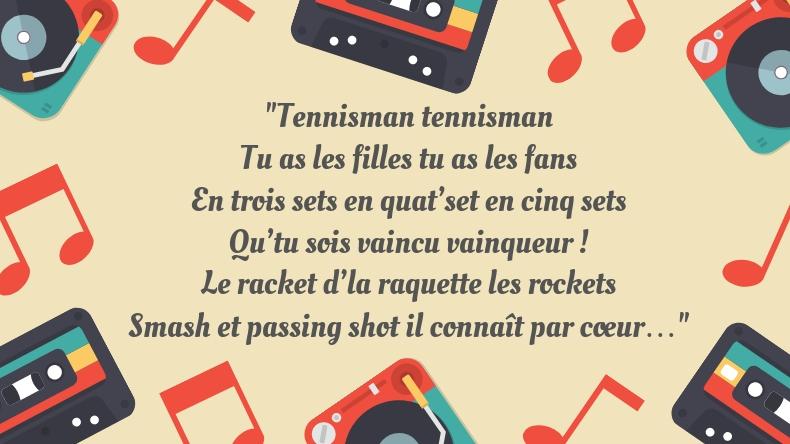 Il y a du lourd dans ce Top 5 des chansons françaises sur le tennis.