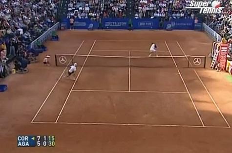 Au petit jeu des amorties, Andre Agassi peut rivaliser avec Guillermo Coria.