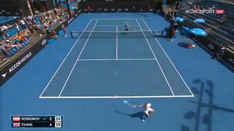 Le coup incroyable de Daniel Evans aux qualifications de l'Open d'Australien 2019.