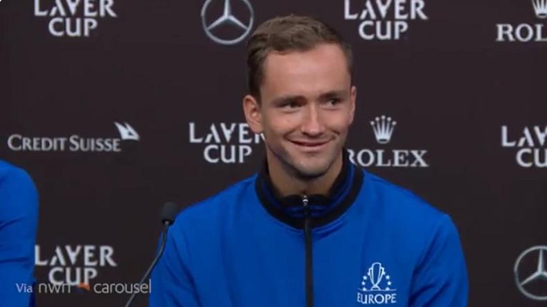 La réponse marrante de Daniil Medvedev en conférence de presse à la Laver Cup.