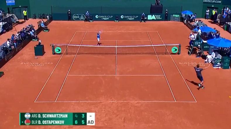 L'exploit incroyable de Daniil Ostapenkov, sans classement ATP, contre Diego Schwartzman en Coupe Davis.