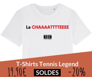 Soldes sur les t-shirts Tennis Legend
