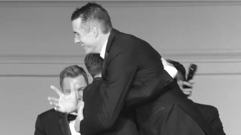Diego Schwartzman et son jumeau John Isner à la Laver Cup 2018.