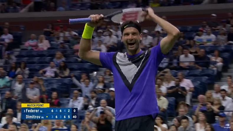 Grigor Dimitrov bat pour la première fois Roger Federer en quarts de finale de l'US Open 2019.