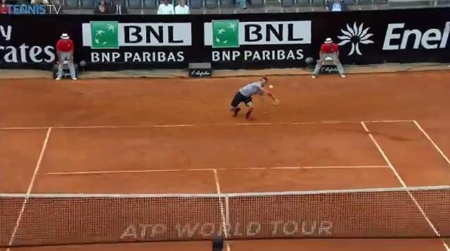 Encore un point spectaculaire de Grigor Dimitrov au Masters 1000 de Rome 2014.