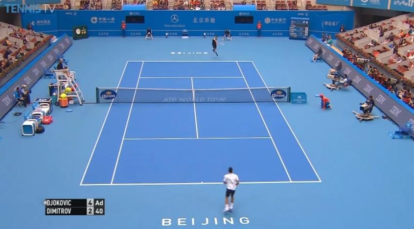 Le revers sauté à une main de Grigor Dimitrov au tournoi de Pékin 2014.