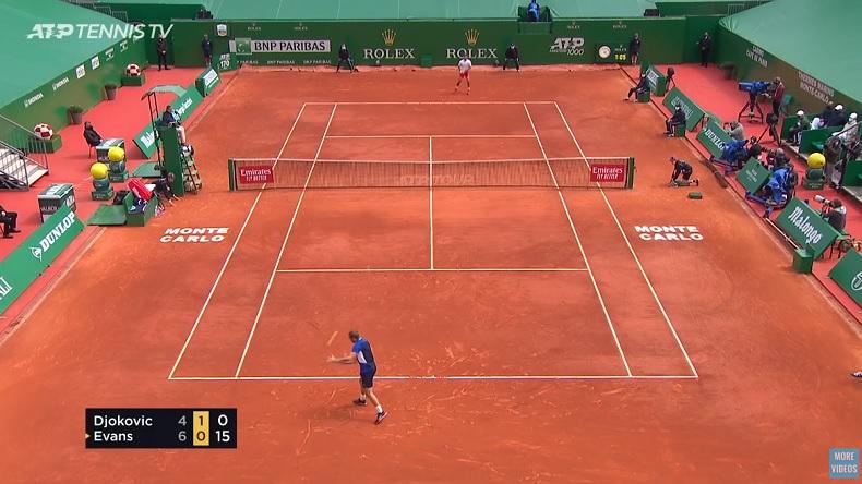 Dan Evans a cuisiné Novak Djokovic à Monte-Carlo.