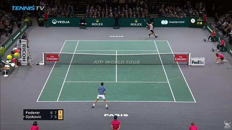 Ce Djokovic - Federer en demi-finales du Rolex Paris Masters 2018 restera dans les mémoires.