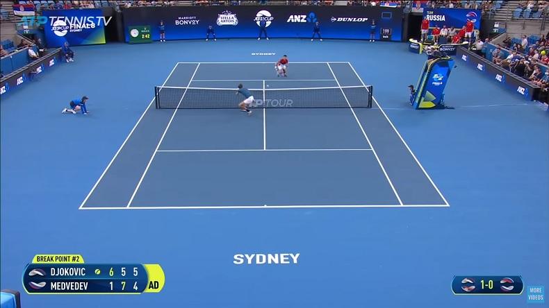Djokovic et Medvedev ont joué des points malade en demi-finales de l'ATP Cup 2019.