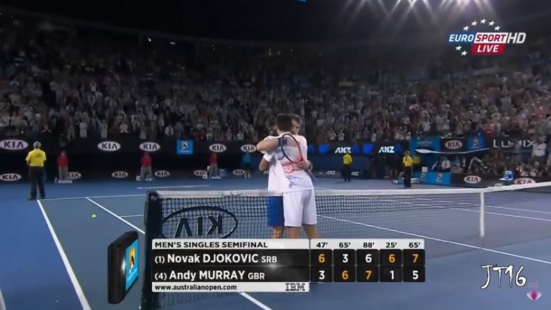Andy Murray et Novak Djokovic ont livré une demi-finale épique à l'Open d'Australie 2012.