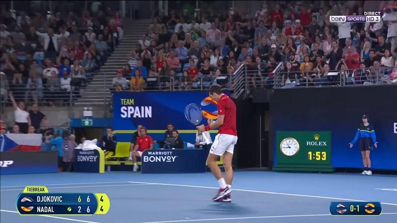 Novak Djokovic a été impitoyable contre Rafael en finale de l'ATP Cup en proposant un niveau de jeu indécent.